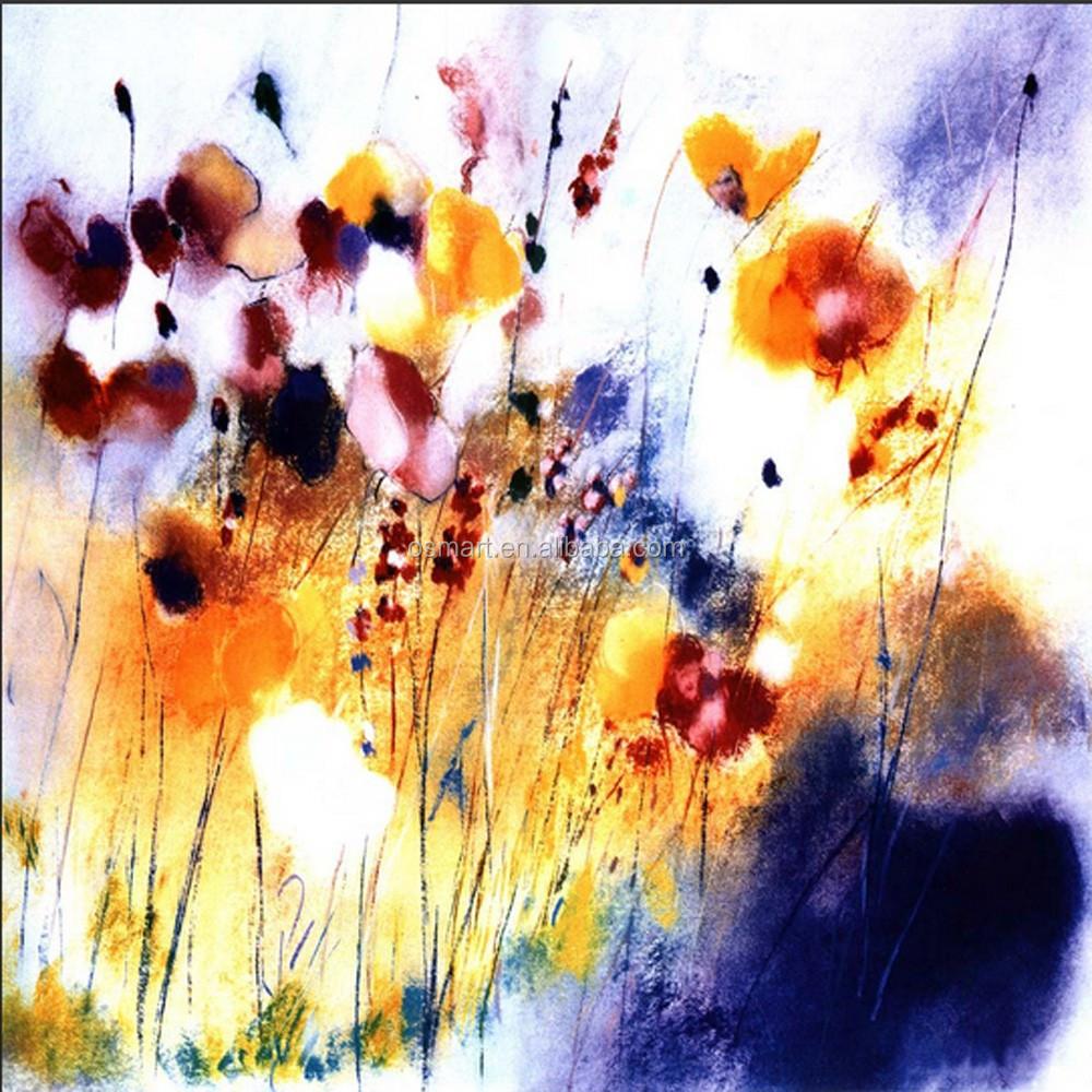 el ms nuevo diseo de la pintura abstracta flor abstracta hecha a mano cuadros pintados de flores pintura antigua pintura de flores de amapola buy