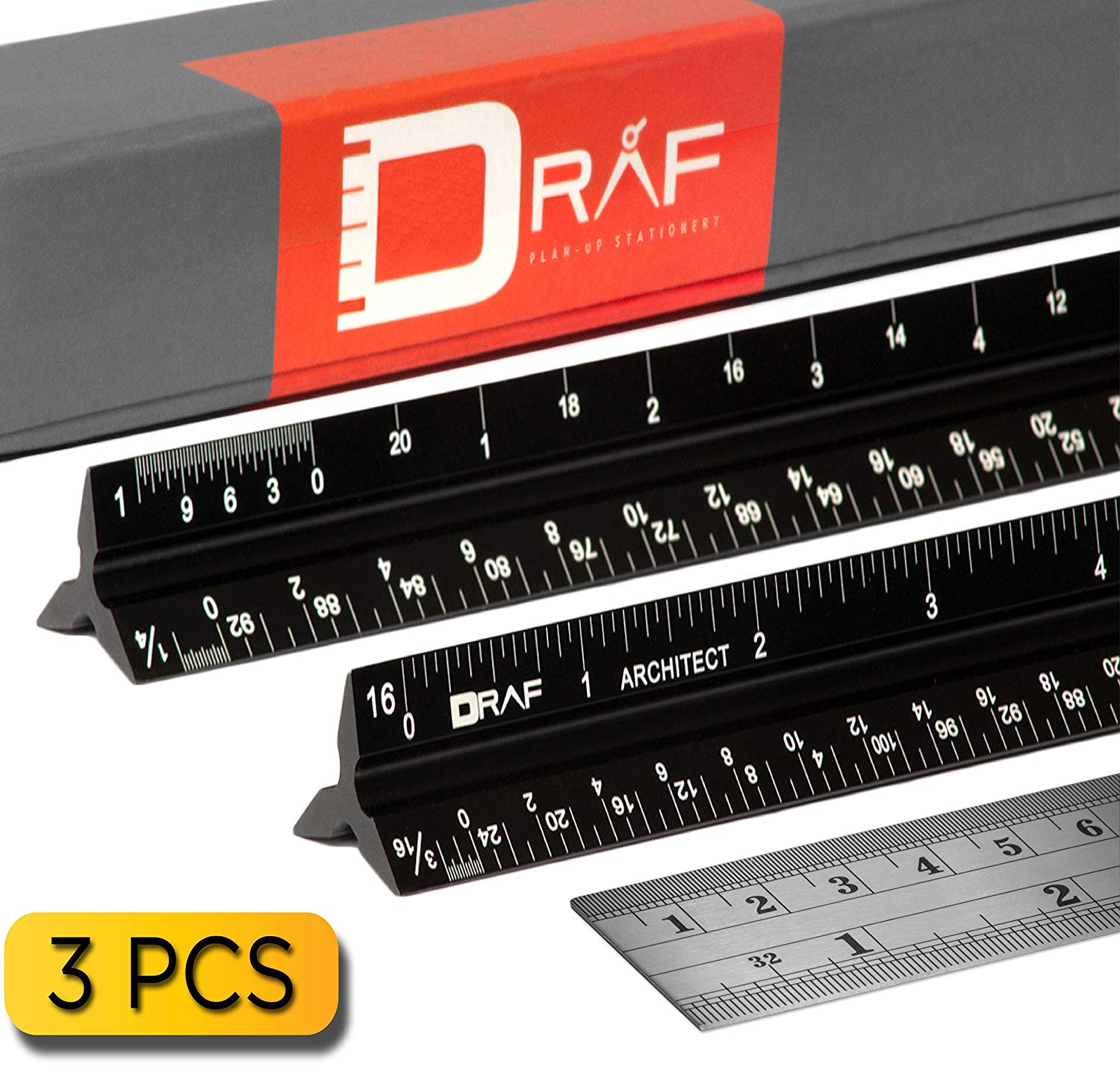 Buy 12-inch Architectural Scale Ruler Set (Imperial) Laser-E