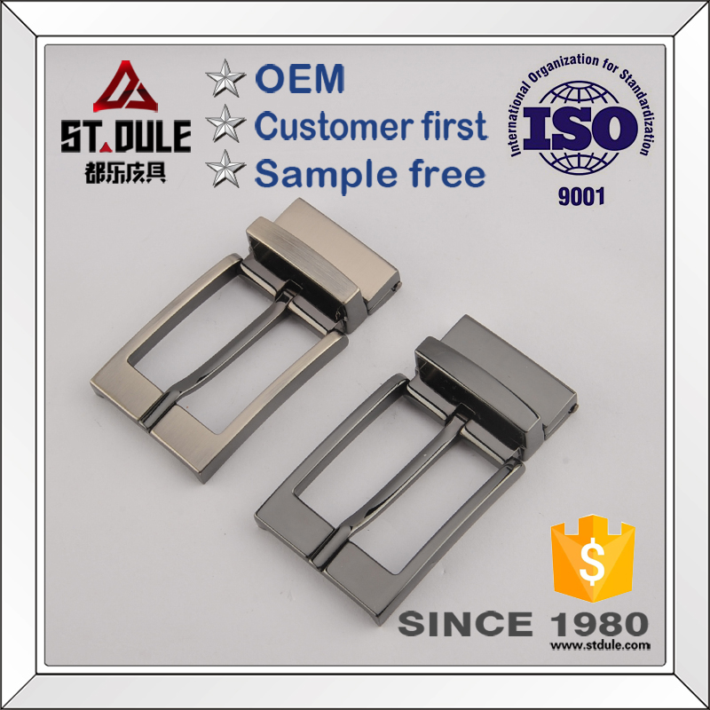 Zinc alloy reversible pin <strong>buckle</strong> 35mm