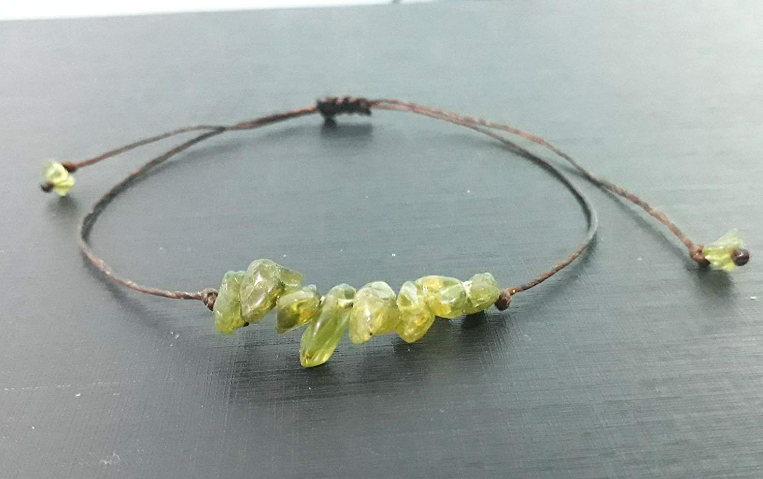 Peridot anlets,green anklets,stone anklets,men anklets,women anklets,gift anklets,fashion anklets