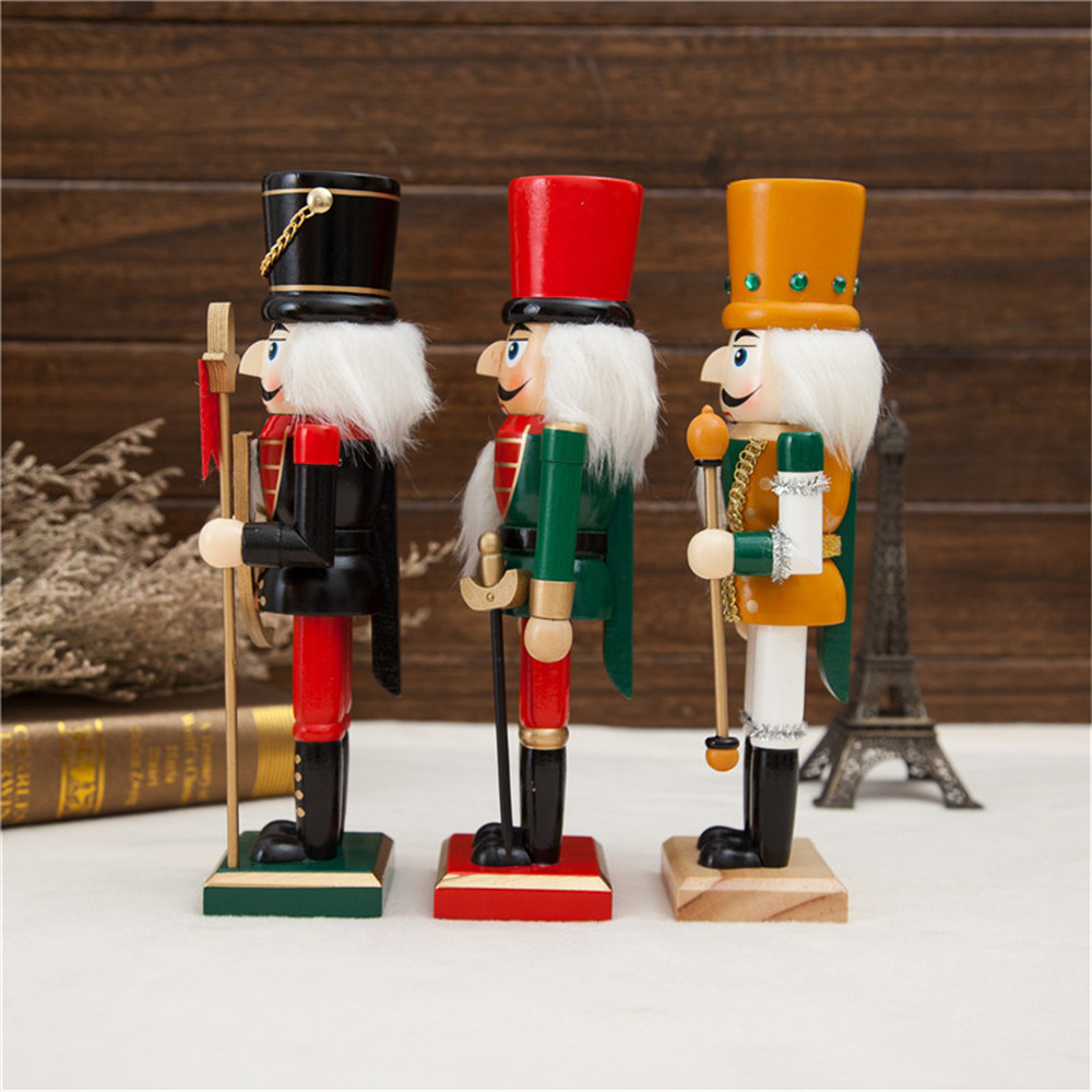 Home decoration crafts Wooden christmas nutcracker soldiers with 25CM