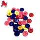 Assorted Mixed Color Plastic Buttons 2 and 4 Holes Round Craft for Sewing DIY Crafts Children's Manual Button Painting