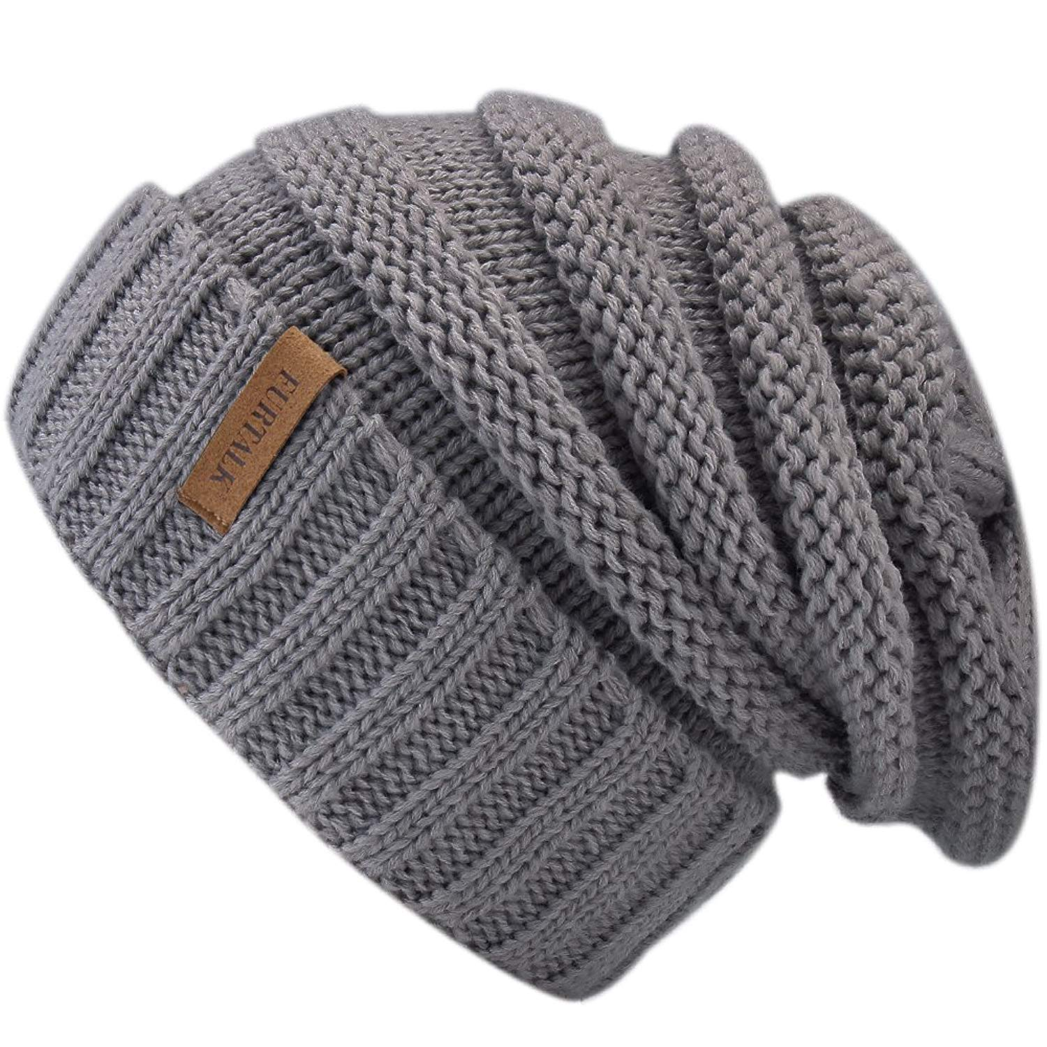 LOVARZI Bobble Hat For Women Knitted Winter Hats With Pom Pom