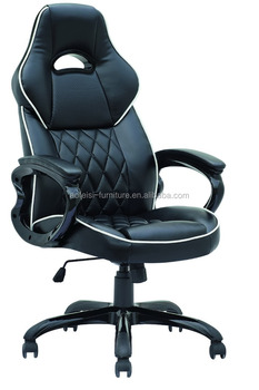 High Back BlackRed Leather Swivel Gaming Racing Car Seat Style Office Chair