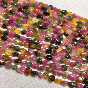 natural colorful crystal Tourmaline healing crystal beads for sale