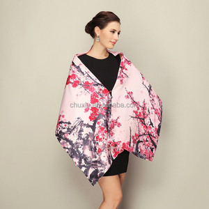 True Show fashionable silk scarf, plum blossom fragrance shawl