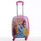 4 wheels hard shell kids trolley luggage case travel bags