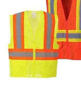 High Visibility Vest Safety Contrast Hi Vis Class 2 Reflective