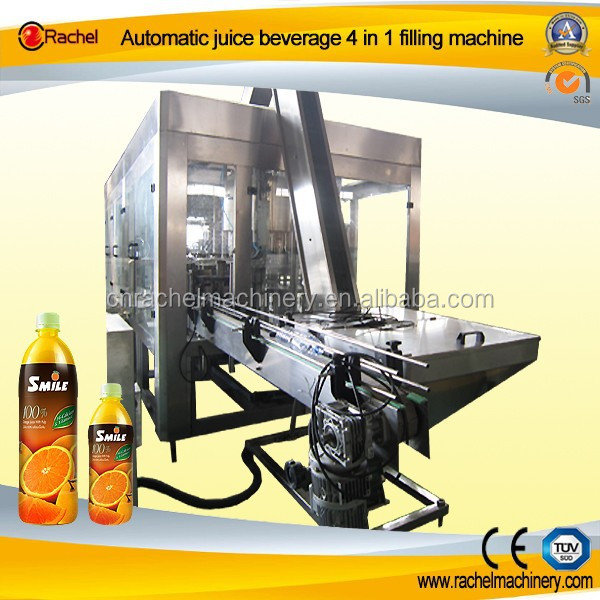Juice Beverage Bottle Cleaning Filling Packing Facility
