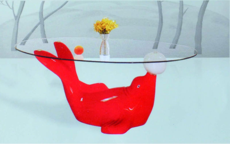 dolphins glass coffee table, dolphins glass coffee table suppliers