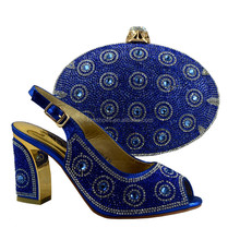 Italian To Match Italian Shoe and Bag Purple Women Shoes and Bags Match Set Sale African Shoes 89231-8