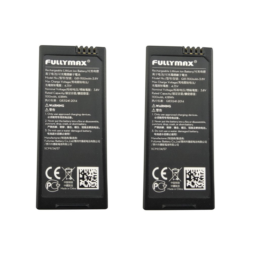 Fytoo Accessory 3.8V 1100mah lithium battery for DJI Tello RC quadcopter spare parts drone battery (2PCS)