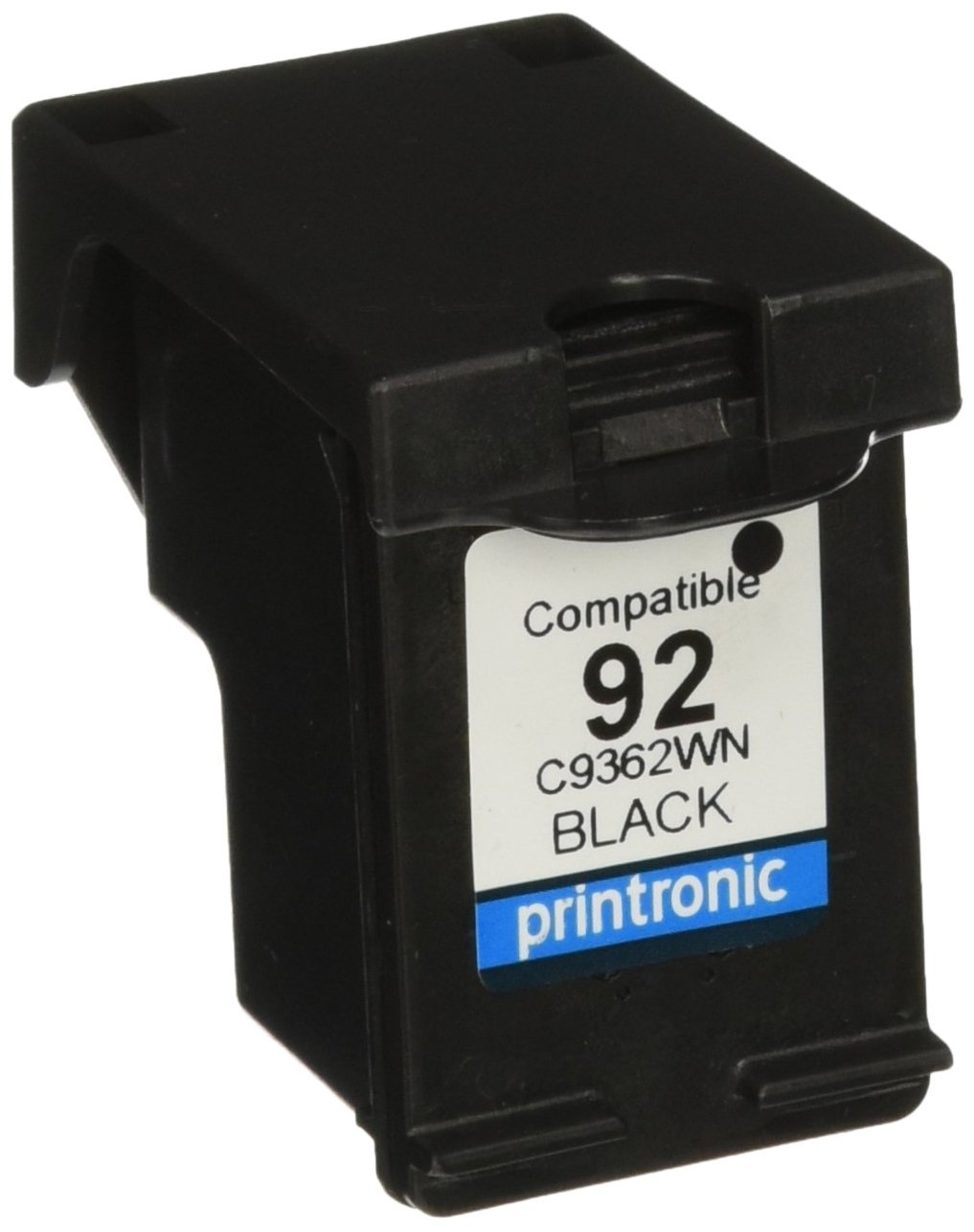 Printronic Remanufactured Ink Cartridge Replacement for HP 92 C9362WN (4 Black) 4 Pack