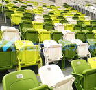 Plastic tribune, folding stadium chair/stadium seat/stadium seating