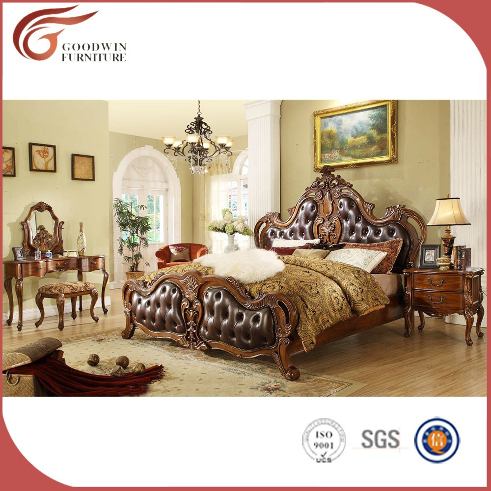 Lujo cama con dosel, muebles de dormitorio antiguo conjunto A10 ...