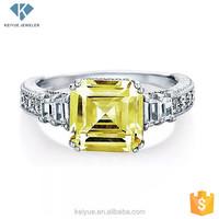 Yellow zircon white gold ring ring jewelry wholesale germany alibaba