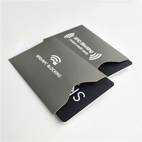 Ultimate premium identity security protection custom printed NFC RFID blocking sleeves for credit cards
