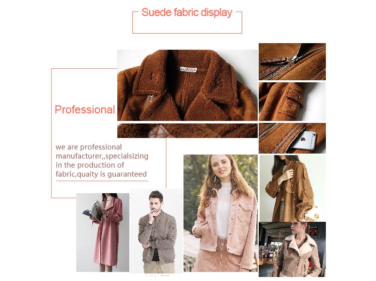 Großhandel 100% Polyester Sofa Super weiche synthetische gestrickte Faux Wildleder Stoff für Frauenkleid
