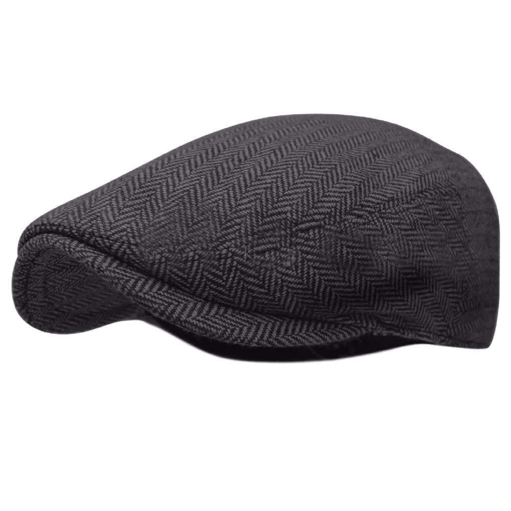 756d9fae751 Get Quotations · Herringbone Ivy Hat Wool Stripe Gatsby Cap Golf Driving  Flat Cabbie Newsboy
