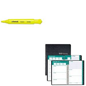 KITHOD29602UNV08861 - Value Kit - House Of Doolittle Express Track Weekly/Monthly Appointment Book (HOD29602) and Universal Desk Highlighter (UNV08861)