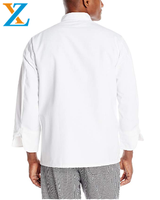 White chef jackets and chef coat with long sleeve and covered button