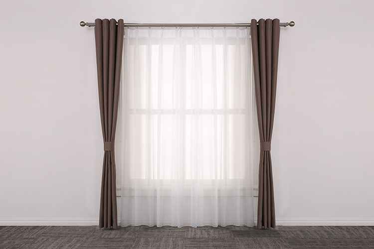 China style type brown household sun protection curtain for study room
