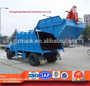 Dongfeng 140 garbage compactor 8cbm refuse compactor waste truck