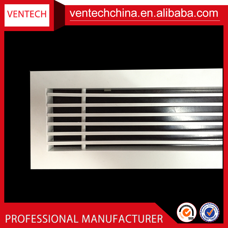 Air conditioning grilles wall decoration aluminium Linear bar grille