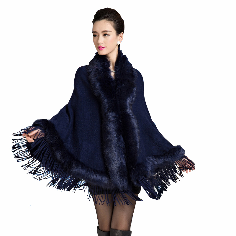 65414e9ffd57 Get Quotations · 2015 female large size overcoat women winter fashion Shawl  cloak trench poncho cape Coats Jackets outerwear