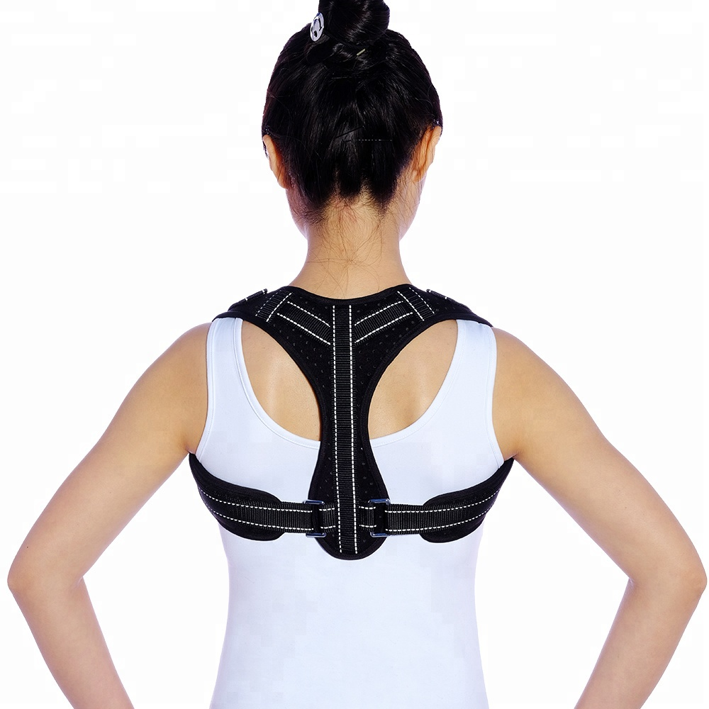 Neoprene fabric posture corrector Back Support Corrective Posture Clavicle Band, Grey;black or customized color