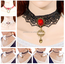Fabric/Ribbon/Lace Wire Short Choker Necklace