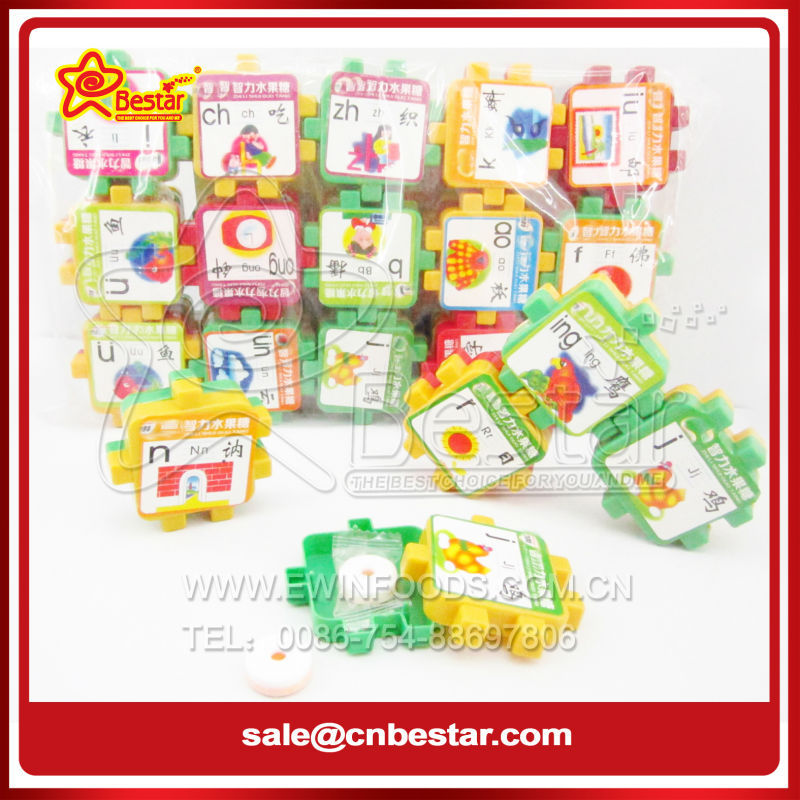 Children Intellectual Building Blocks Whistle Candy Toy Candy
