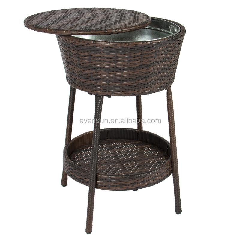 Ice Cool Bar Rattan Table Cooler 2018 Hot Selling