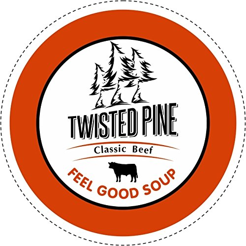 Twisted Pine Home Style Beef Soup Broth, Single-Serve Cups for Keurig K-Cup Brewers, 24 Count