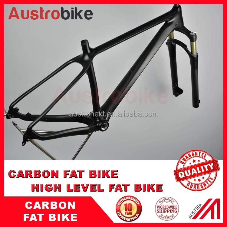 Carbon Fatbike Frame With Hydraulic Suspension Fork Alloy Fork Fat ...