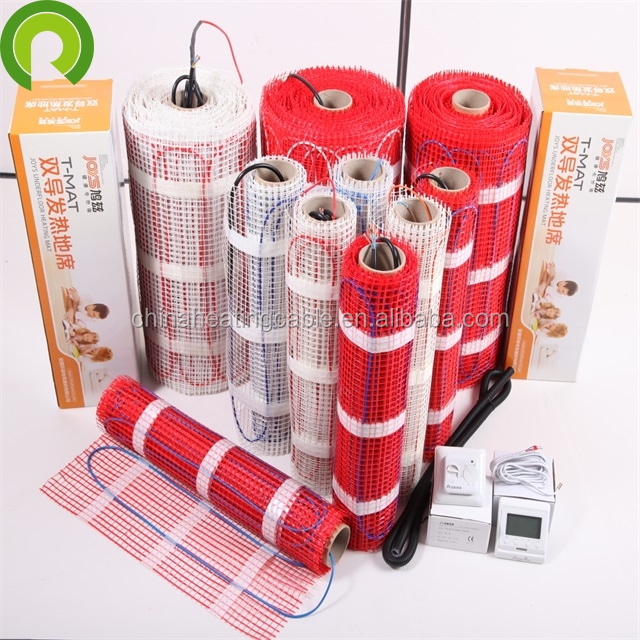 PVC Jacket Fast Heating Electric Warm Floor Mat for Tile and Stone Floor