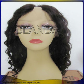 HOT Selling Attractive Design High Quality 70% human hair curly hair wigs