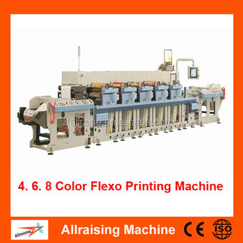 4 Colour,6 Color Plastic Bag Flexo Printing Machine