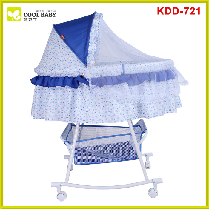 Bedroom furniture convertible infant swing bed
