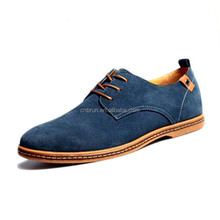 Plus Size Men Shoes 2017 New Suede Genuine Leather Fashion Flat Men Sneakers Casual Oxford Shoes Men Leather Shoes