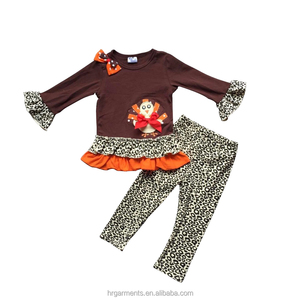 wholesale cute baby boutique clothes kids fashion fall cotton clothing sets new designs western girl beautiful ruffle outfits