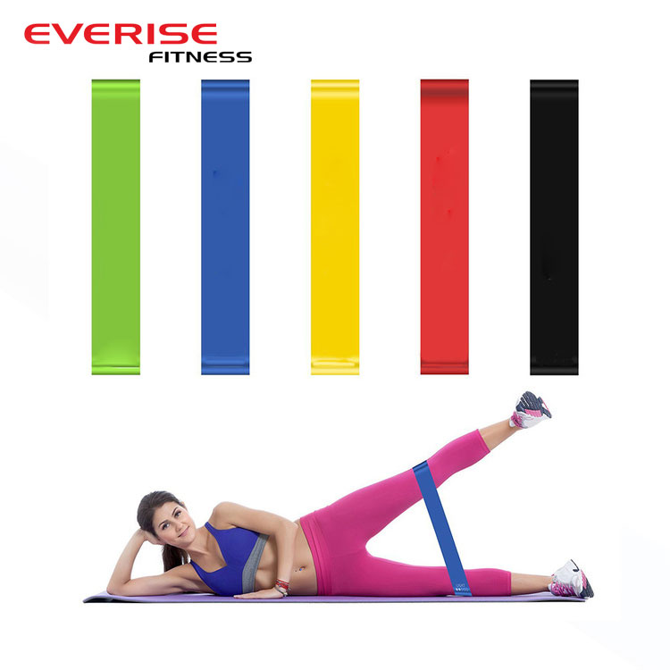 Groothandel Custom Logo Yoga Fitness Oefening Elastische Stretch Mini Latex Loop Resistance Bands