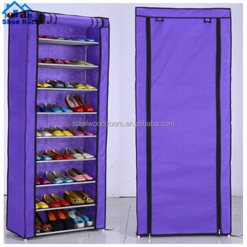 7 layer Non-Woven rack shoe storage chest zipper stands