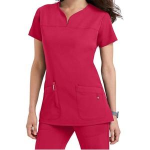 Hospital Uniform Women's light weight scrub top for healthcare professionals Short-sleeved medical scrub