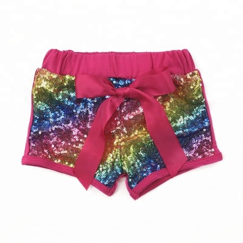 Kids Boutique Toddler Girls Shorts Colorful Baby Girl Sequin Shorts