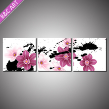 Modern home decortions led canvas wall art print art flower painting