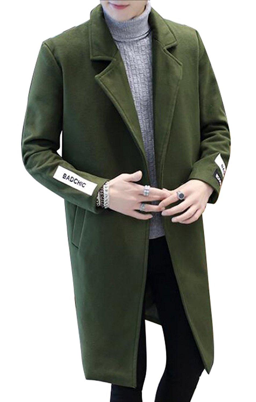 Fensajomon Mens Single Breasted Slim Fit Fall Winter Printed Fleece Warm Dress Work Shirt