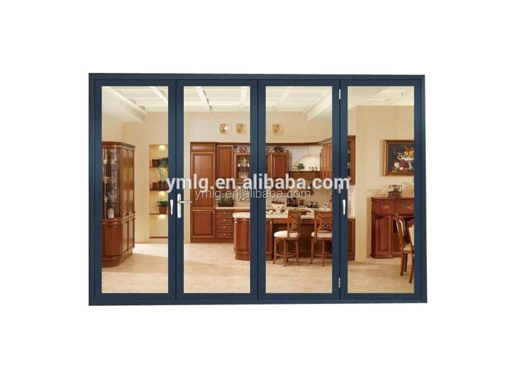 Hohe Festigkeit Schalldichte Kommerziellen Aluminium Folding Eingangstür