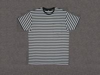 Newest factory price promotional Mens 100% cotton washed & yarn dyed stripe short sleeve T-shirt