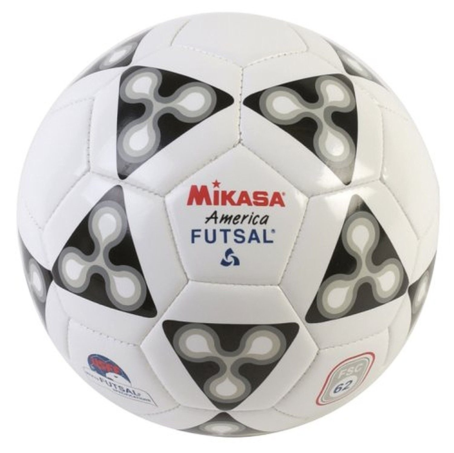 Mikasa America Futsal Ball; Low Bounce Soccer Ball-size 4;black-white New Fsc62